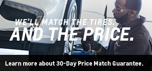 We'll match the tires and the price
