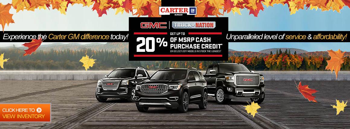 Carter Gm Car Dealership In Burnaby Buick Cadillac