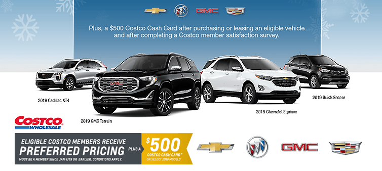 Costco Wholesale General Motors Exclusive Offer Carter