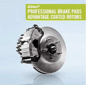 ACDelco Professional Brake Pads & Advantage Coated Rotors