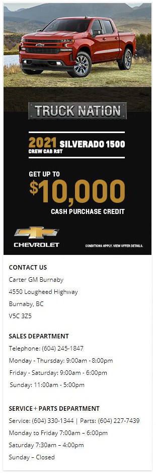 2021 Chevrolet Silverado 1500 Truck Burnaby