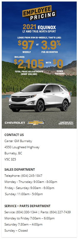 2021 Chevrolet Trailblazer Equinox Traverse Blazer Burnaby BC