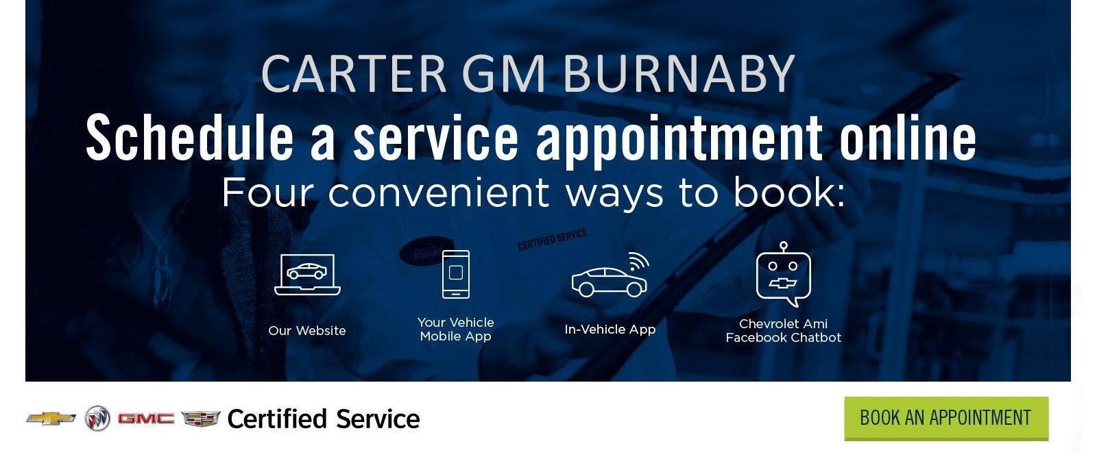best priced local certified gm carter burnaby book online or in-vehicle app today bc